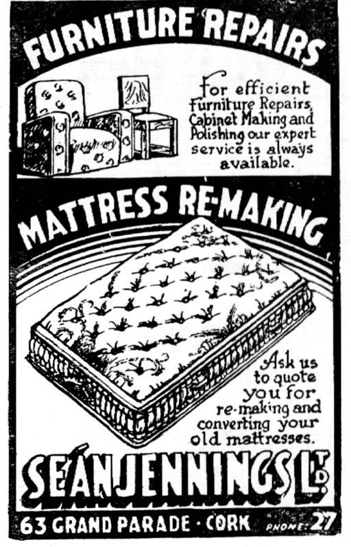 bed mattress cork 1950 sean jennings
