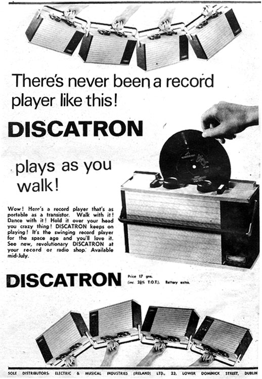 discatron_1966_dublin record player portable