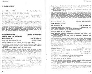 some example excursions 1957 Dublin