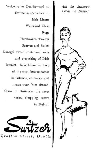 switzers dublin advert 1957