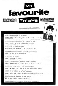 richard crowley favourite things