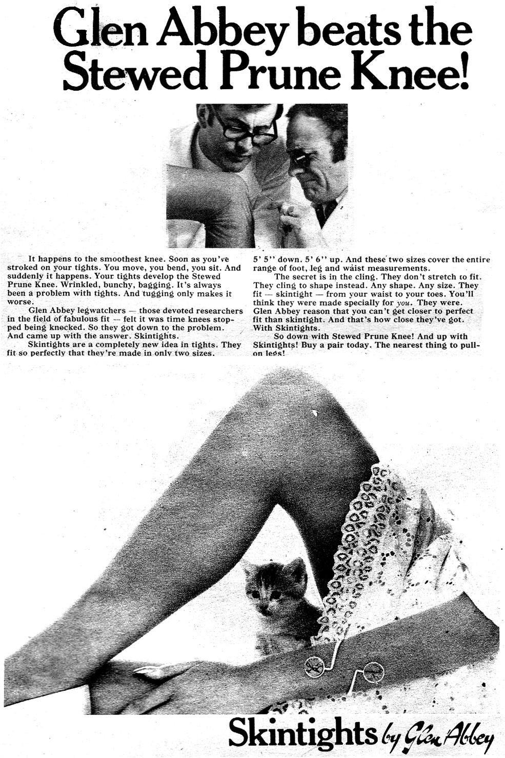 glen abbey 1969 advert knee
