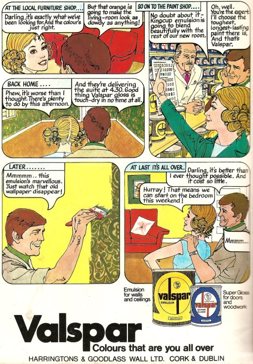 valspar advert 1970