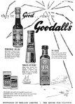 goodalls sauces yr 1961