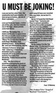 joshua_trio_nme_article_1988