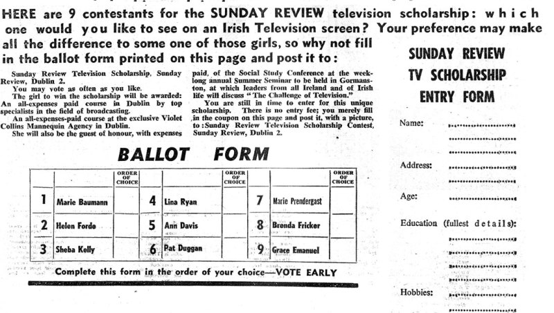 bottom-tv-contest  sunday review april 1961