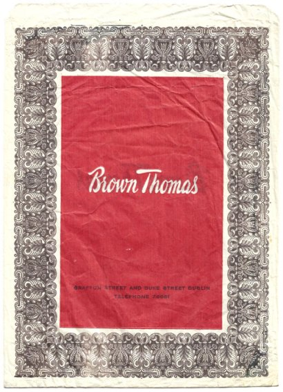 brown thomas paper bag circa 1966