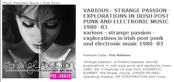 strange passion finders keepers pre order from Rough Trade
