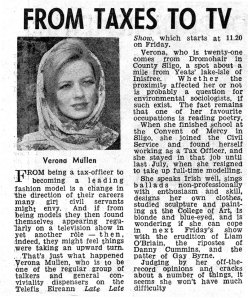 veronica mullen late late 1962