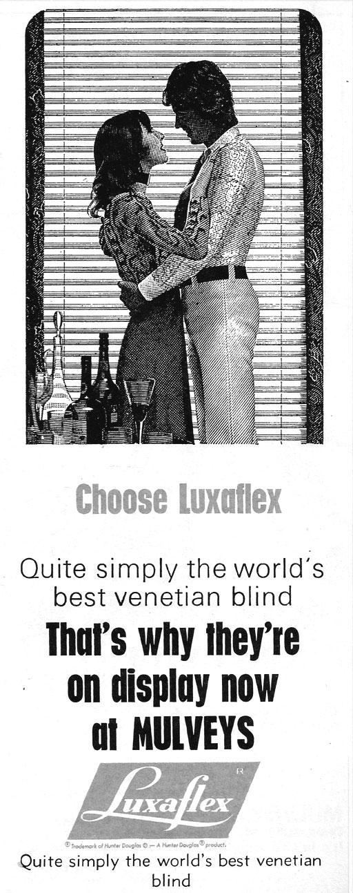 luxaflex-advert-mulveys--dublin-1971