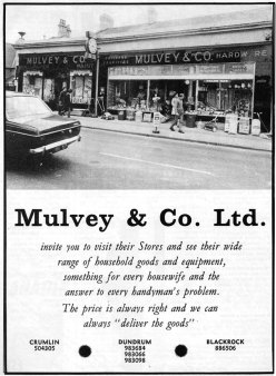 mulveys-main-advert-dublin-1971