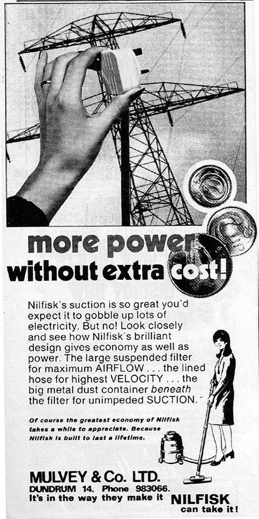 nilfisk-advert-mulveys--dublin-1971