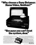 betamax video advert ireland 1982
