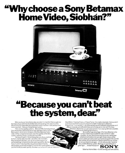 betamax video advert ireland 1982