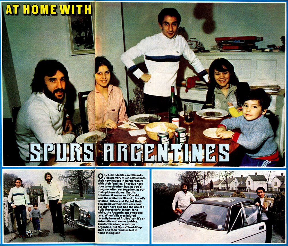 at home with ossie ardiles 1979