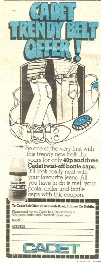 cadet trendy belt offer 1977
