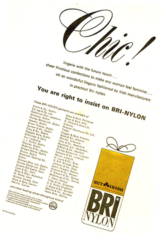 Bri-Nylon, Glen Abbey, Tallaght - Miss Magazine, 1966