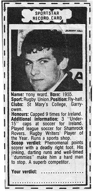 tony ward sportscard scoop 1979