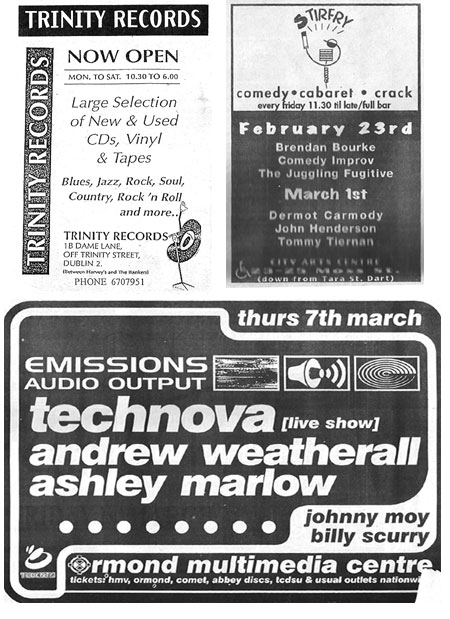 selection of dublin adverts 1996 Event Guide