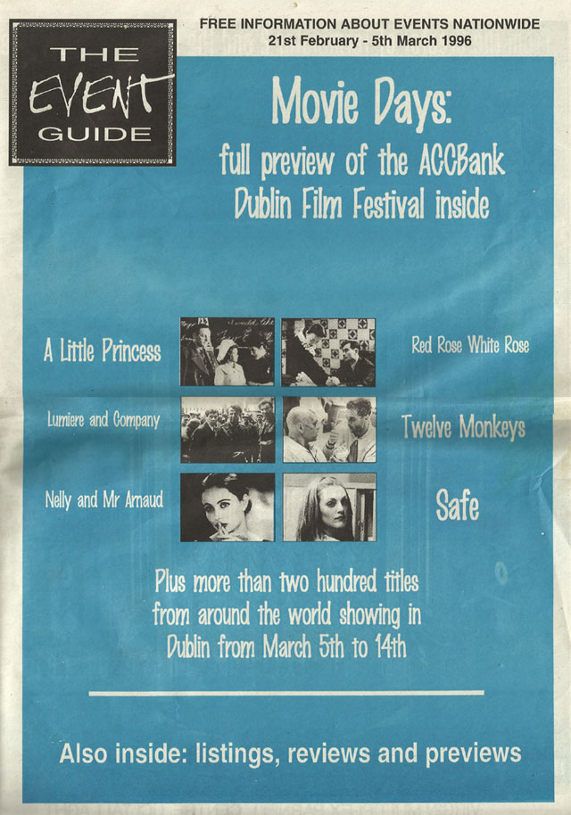 dublin event guide Feb  1996 cover
