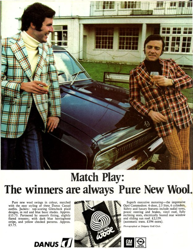 Danus outfits opel commodore Delgany Golf Course 1971