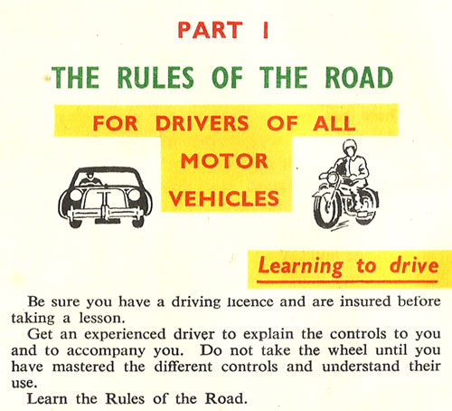 rules of road ireland 1957