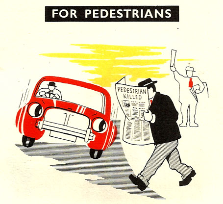 pedestrian rules of road ireland 1957