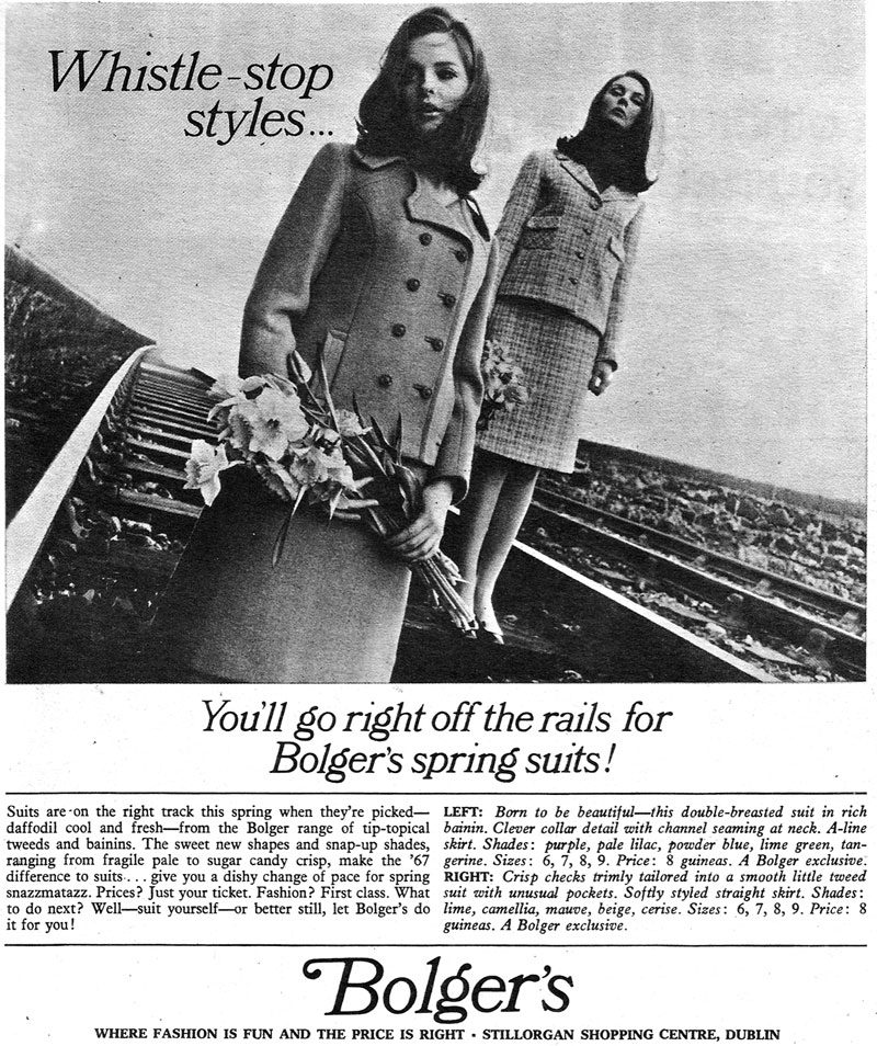 bolgers fashion shop advert 1967