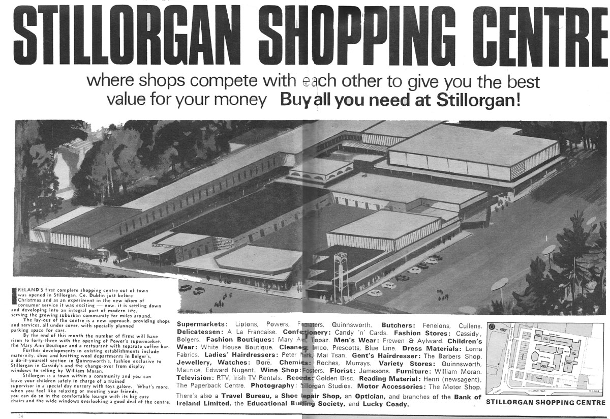 stillorgan shop centre aerial illustration 1967