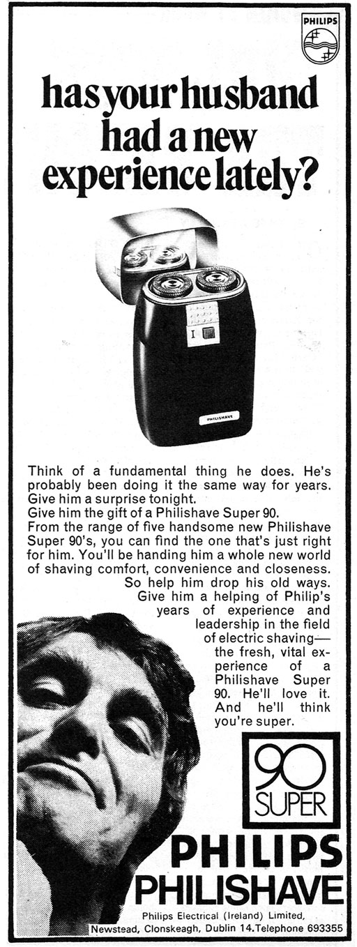 philips philishave advert 1972