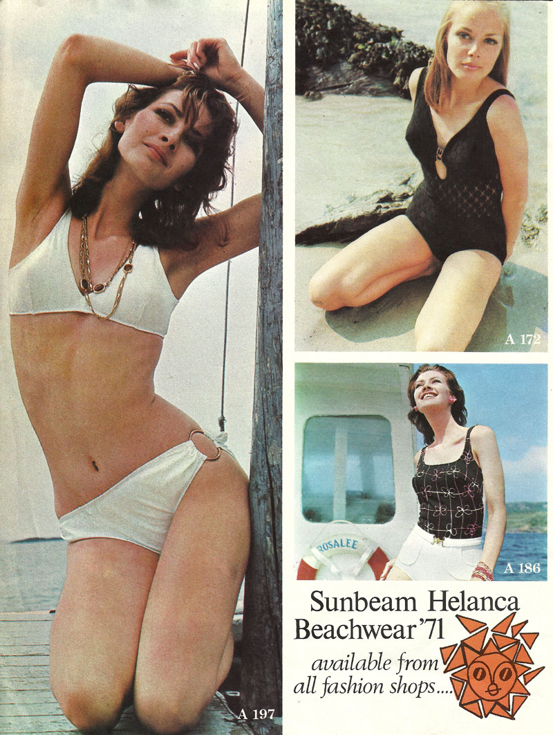 helanca sunbeam beachwear 1971 caherdaniel kerry