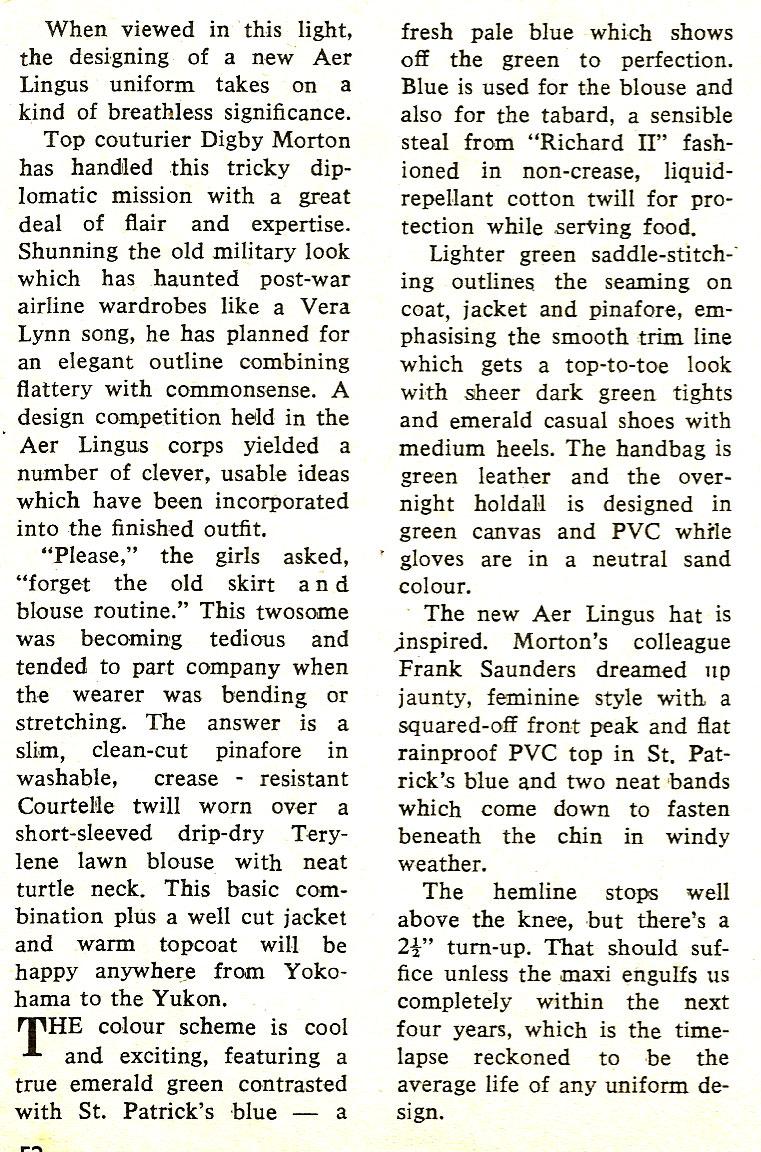 story-aer lingus new look 1970 - digby-mortan