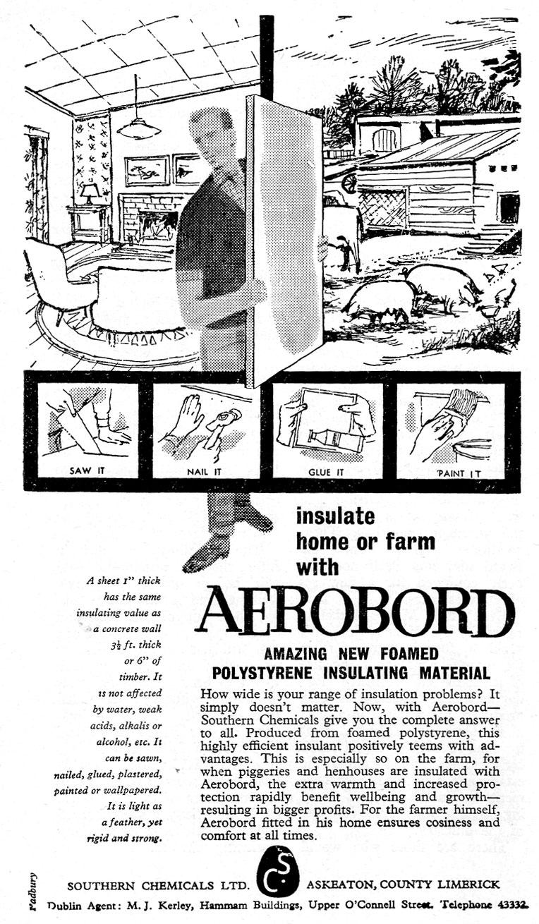 aeroboard advert 1961 limerick