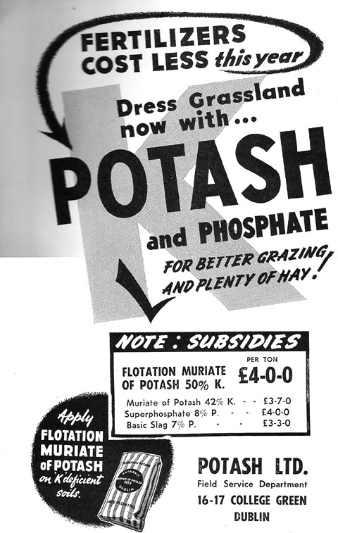 potash advert dublin 1961
