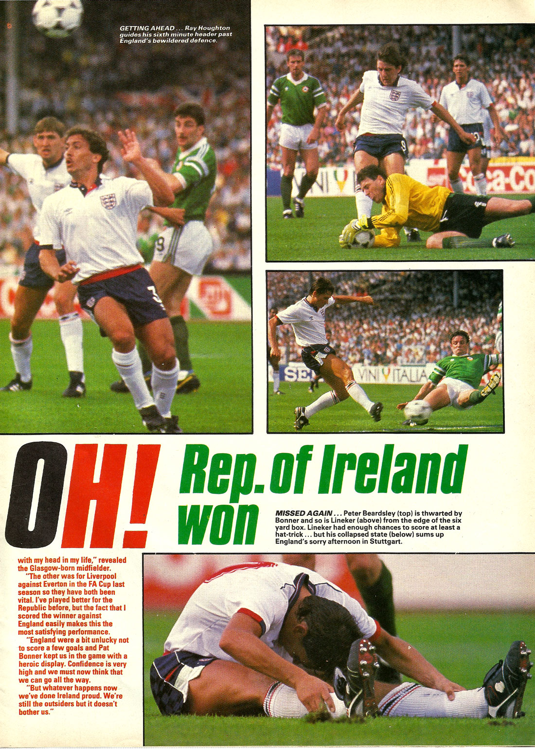 ireland v england uefa 1988 stuttgart shoot page2