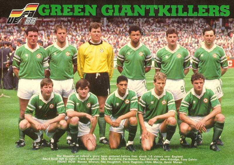 team photo ireland team v england stuttgart june 11 1988