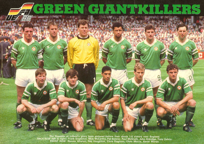 team photo ireland team v england stuttgart june 11 1988