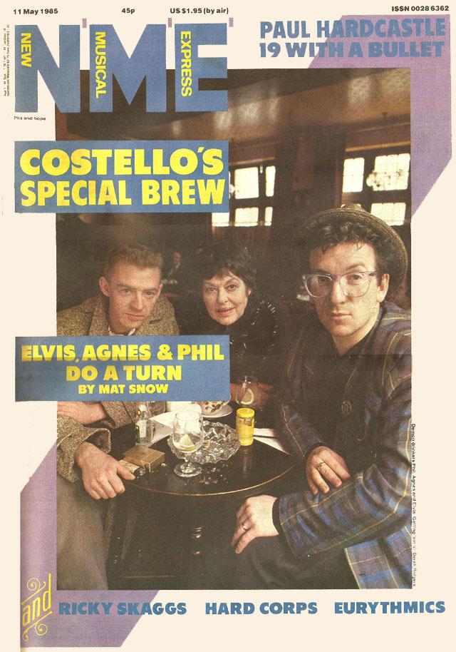 nme may 1985 elvis costello phil chevron agnes bernelle