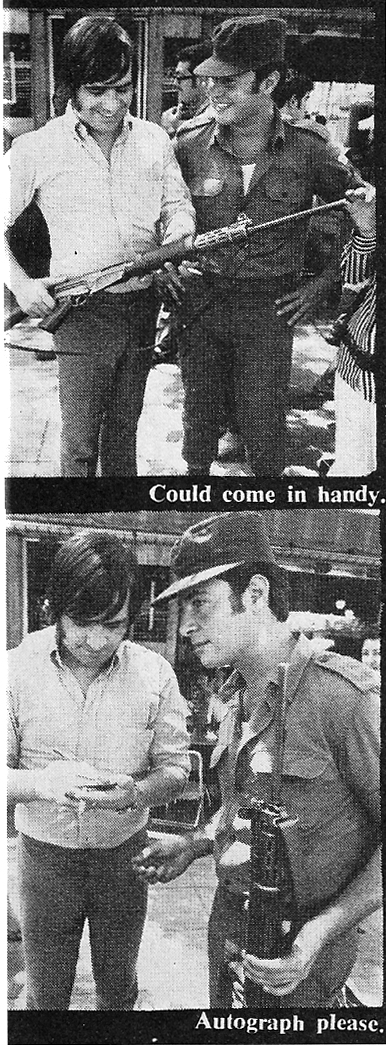 joe dolan  in israel 1970 guns autograph
