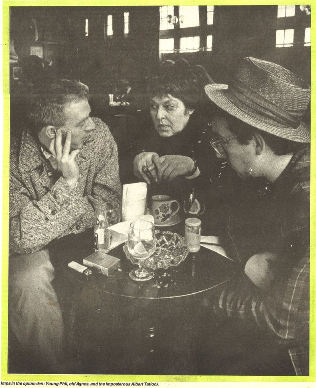 camden-pub-1985 elvis costello phil chevron agnes bernelle