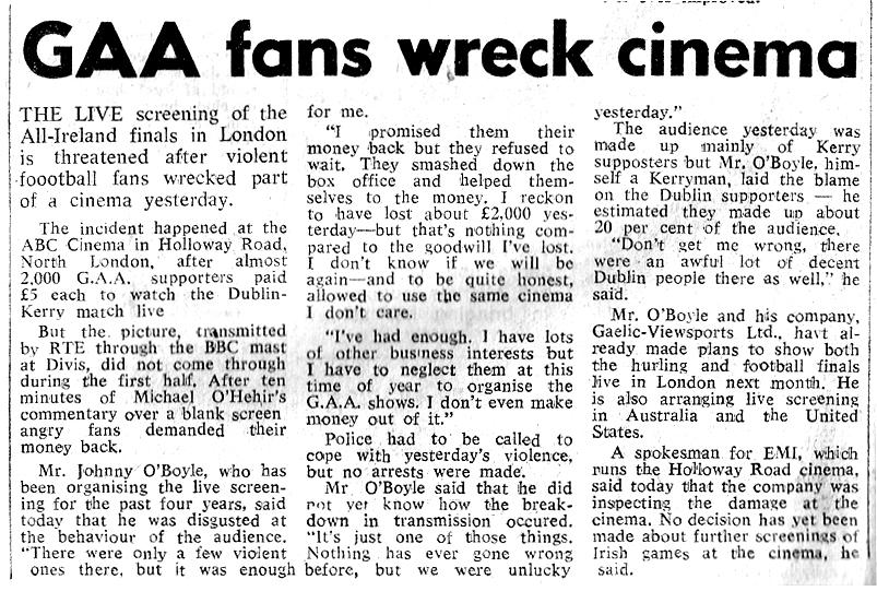 gaa fans wreck abc-cinema-london-1977