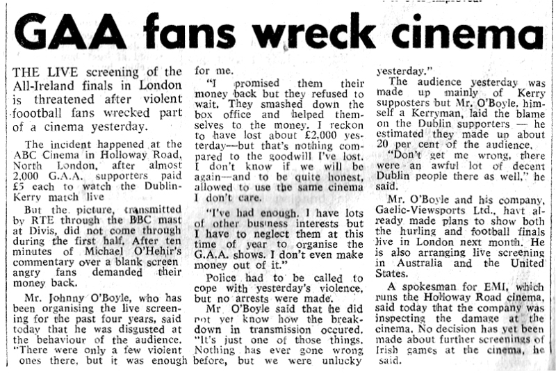 gaa fans wreck abc-cinema-london-1977