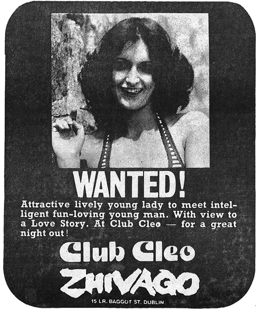 cleos nightclub -zhivago-1977-dublin