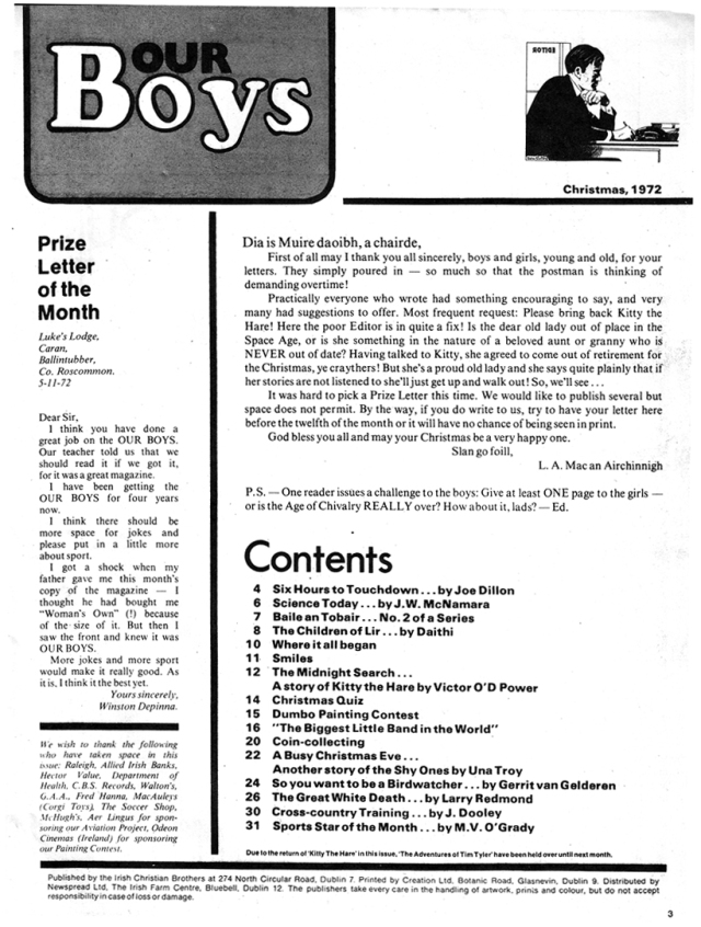 our-boys-mag-1972-editorial