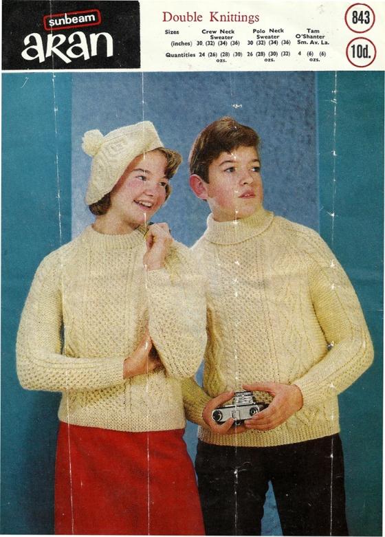 6 Irish Family Knitting Patterns 1960s 70s Brand New Retro