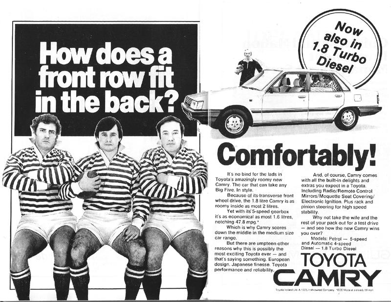 camry advert 1984