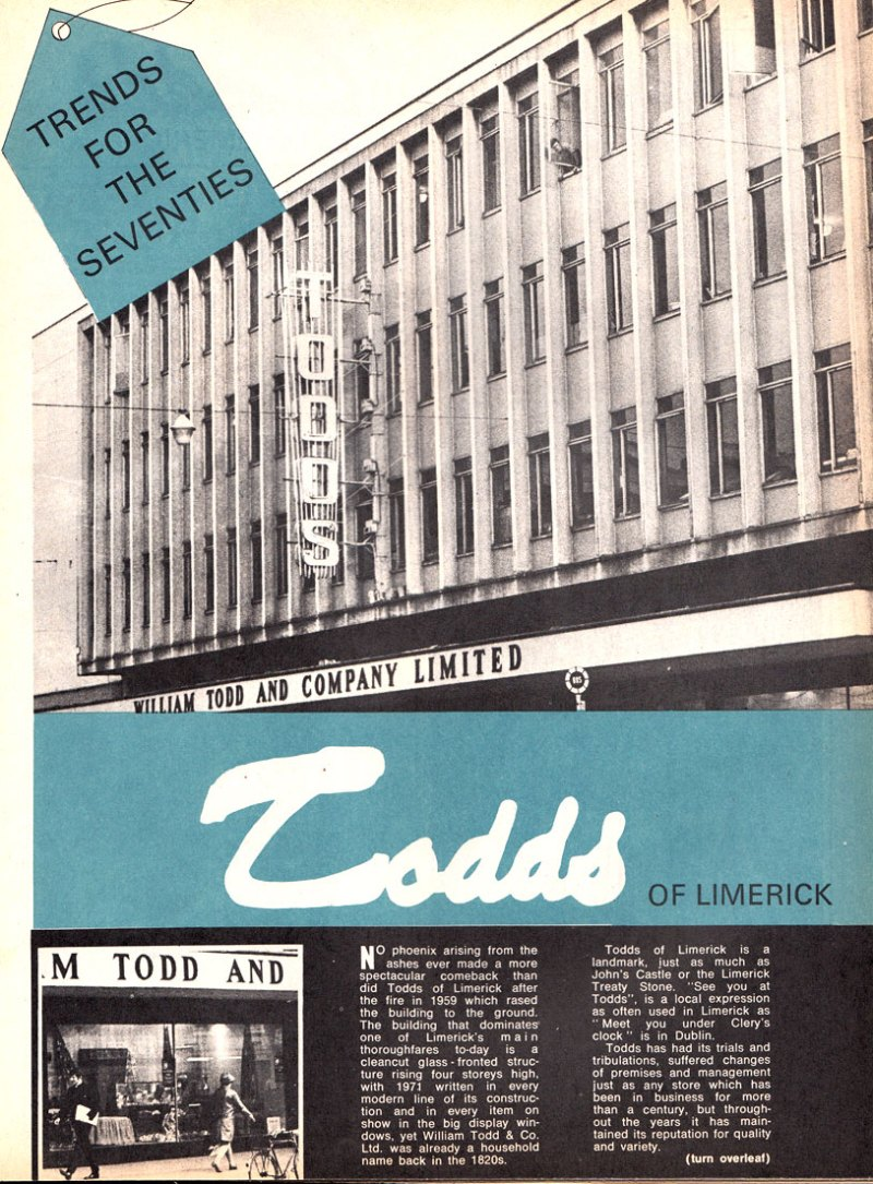 Todds Store Limerick 1971