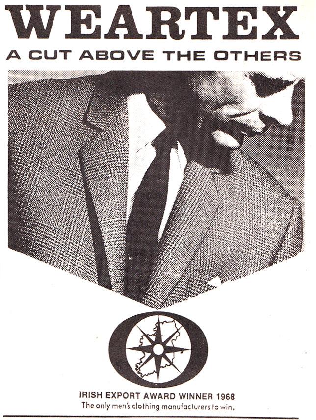 weartex irish export award winner 1968