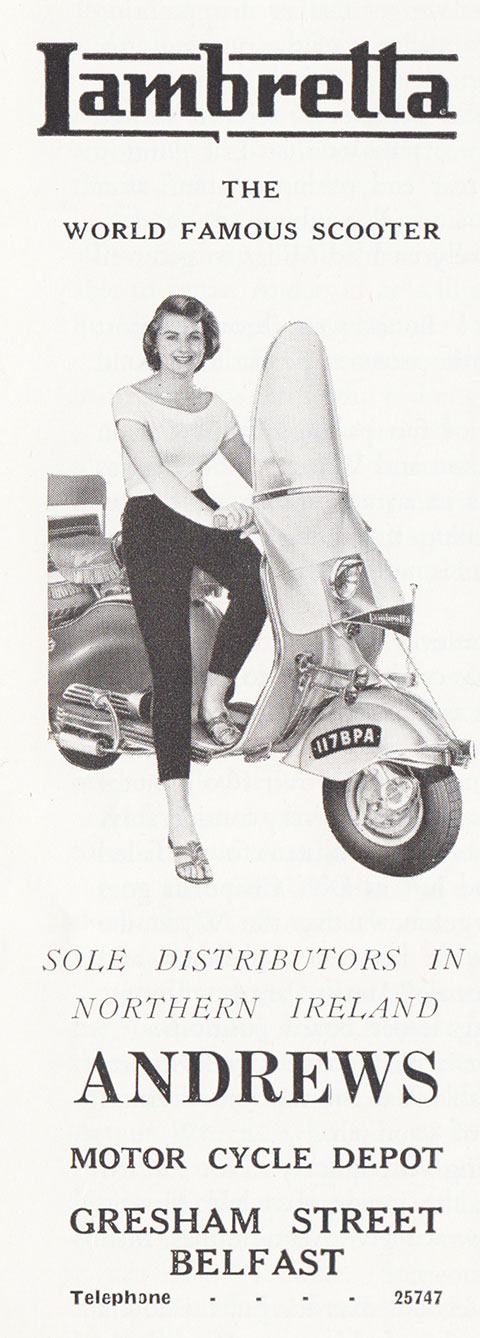 lambretta andrews motor cycle belfast