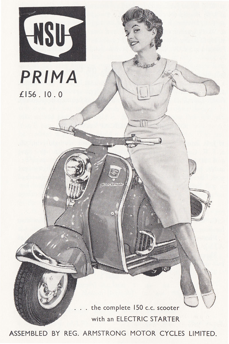 nsu-prima reg-armstrong-motor-cycles